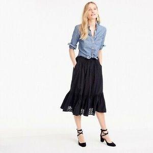 J. Crew midi tiered skirt size 8